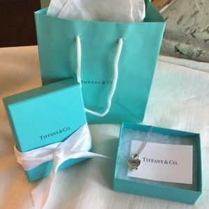Tiffany silver heart necklace